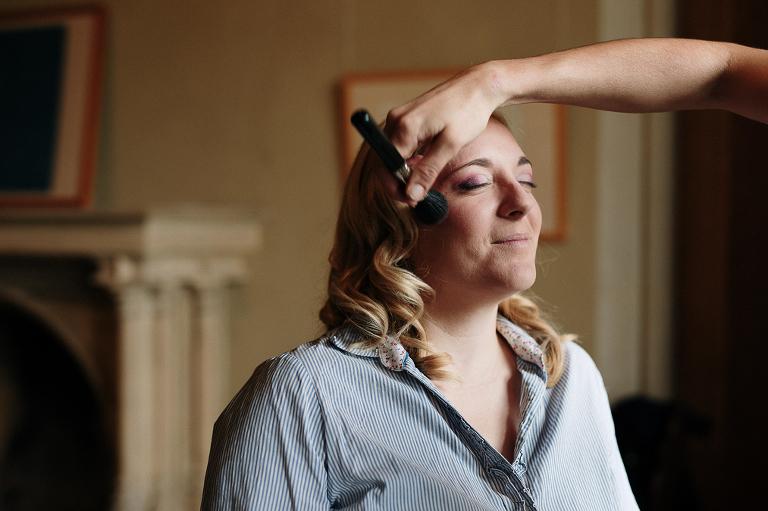 photographe mariage Thonon chateau ripaille preparatifs de la mariée maquillage